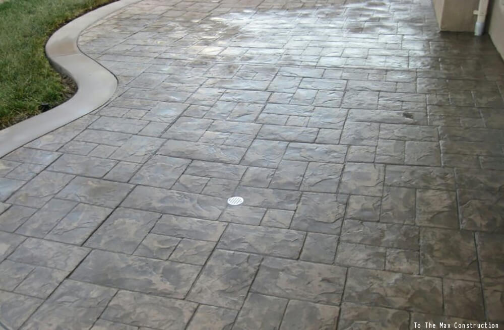 Stamped Concrete Boosts Curb Appeal Stamped Concrete Patio