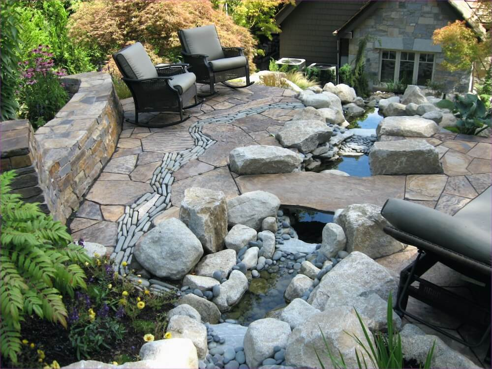 Laying Natural Stone : Stone patio price cost natural