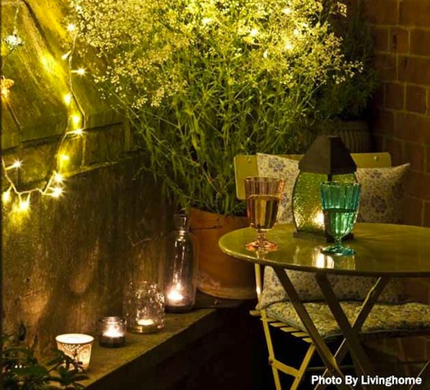 Small Patio Lighting & 7 Small Patio Design Ideas to Make The Most of A Small Patio azcodes.com