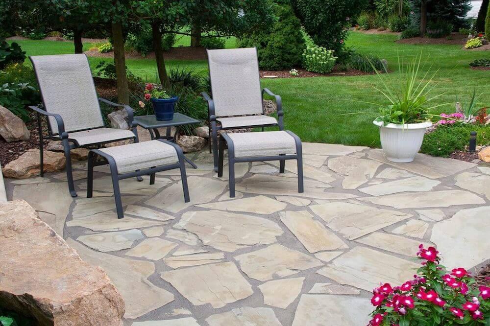 Beau Flagstone Patio Cost