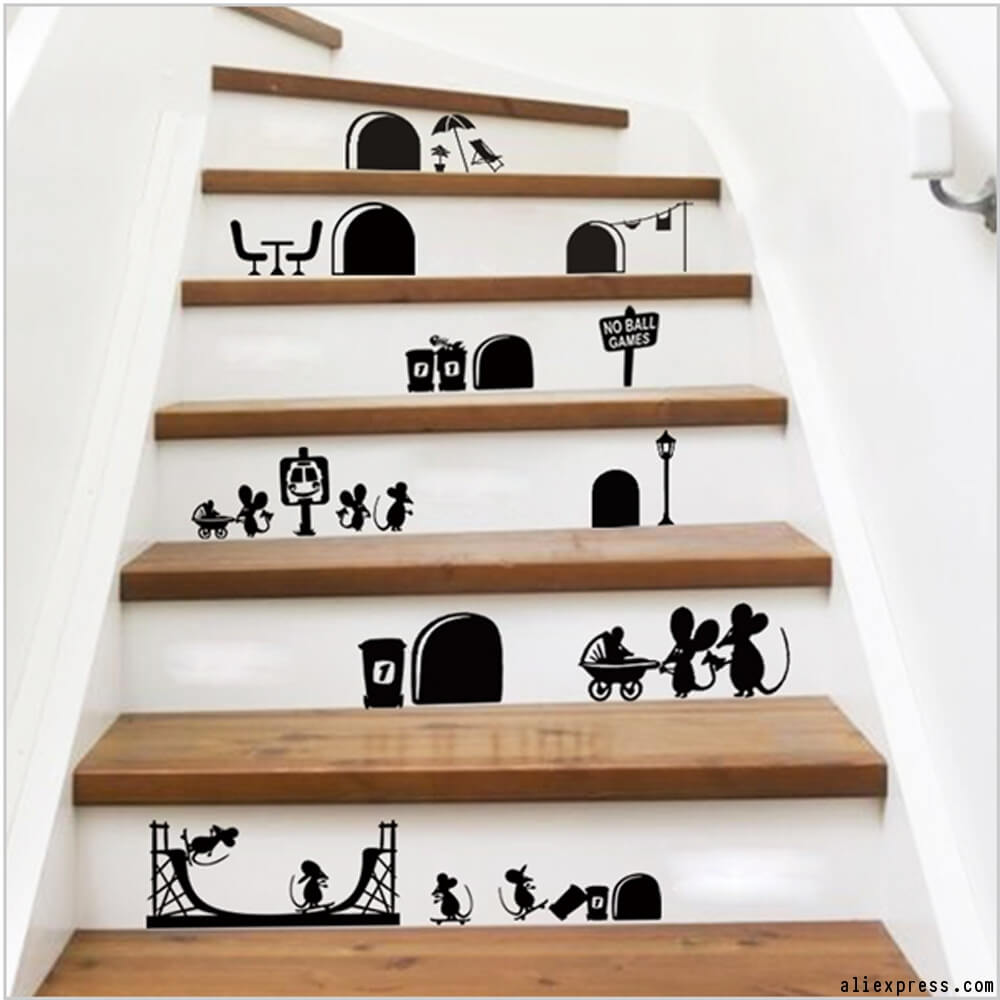 Great Stair Riser Vinyl Decals