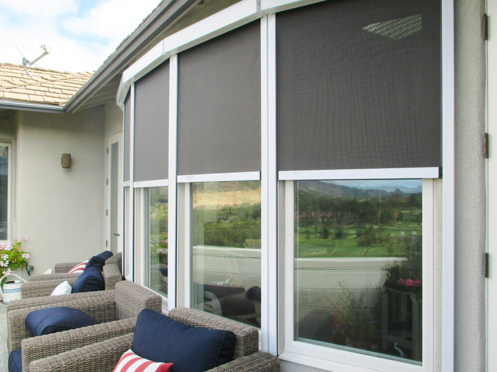 2019 solar screens cost solar shades for windows pricing - Interior vs exterior solar screens ...